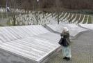 Památník věnovaný obětem masakru ve Srebrenici.