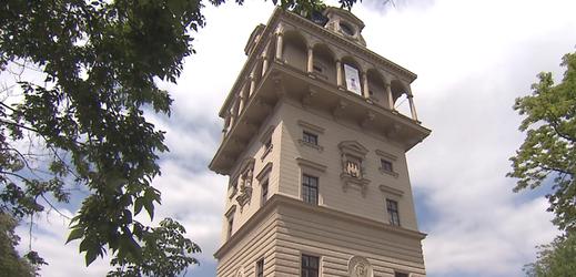 Vodárenská věž na Letné v Praze.