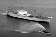 Před 60 lety byla spuštěna první obchodní loď na jaderný pohon