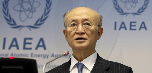 Šéf Mezinárodní agentury pro atomovou energii Jukija Amano.
