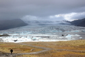 Ledovcová laguna v Islandu.
