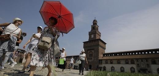 Horké počasí v Evropě, konkrétně v Itálii.