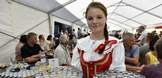 Tradiční košt slivovice a jiných ovocných pálenek na festivalu Vizovické Trnkobraní.