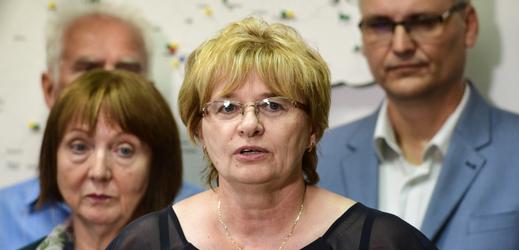 Předsedkyně Odborového svazu zdravotnictví a sociální péče ČR Dagmar Žitníková.