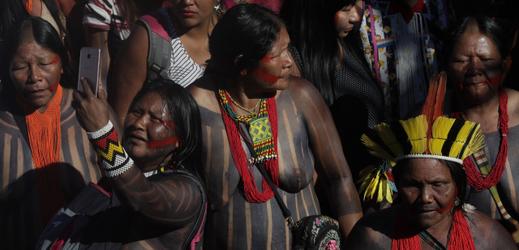 Demonstrace brazilských žen.