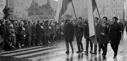 Protesty v Praze.