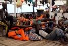 Migranti na lodi Open Arms.