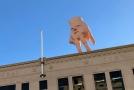 Socha nazvaná Quasi je dílem novozélandského umělce Ronnie van Houta.