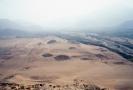 Lokalita Caral v údolí Supe, kde se provádí archeologická zkoumání.