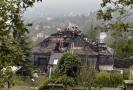 Krejčířova vila po požáru.