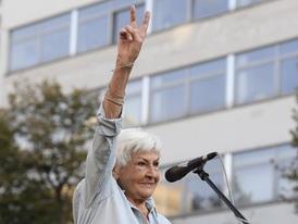 Akce se zúčastnila i někdejší redaktorka Kamila Moučková.