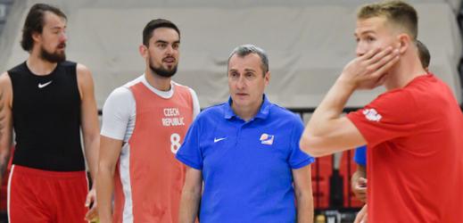 Trénink české basketbalové reprezentace pod vedením Ronena Ginzburga.
