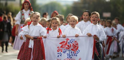 Slovácké slavnosti vína a otevřených památek v Uherském Hradišti (2015).