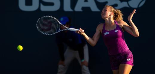 Kateřina Siniaková při generálce na US Open.
