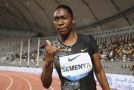 Caster Semenyaová po úspěšném závodu v Doha.