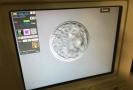 Na snímku ze 4. září 2019 je na obrazovce detail embryonálního stadia blatocysty.