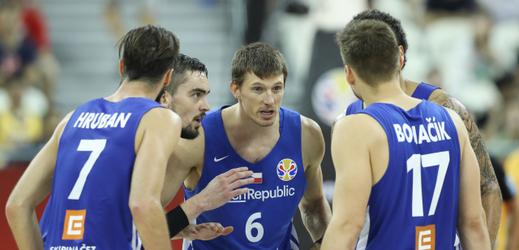 Čeští basketbalisté v Šanghaji.