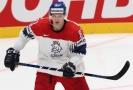Dominik Kubalík v dresu české hokejové reprezentace.