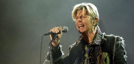 Zpěvák David Bowie.
