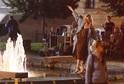 Ivana Chýlková v opilosti balancovala na hraně fontány.