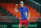 Jonáš Forejtek při Davis Cupu.