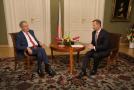 Prezident Miloš Zeman a Jaromír Soukup.