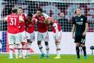 Radost hráčů Arsenalu po gólu.