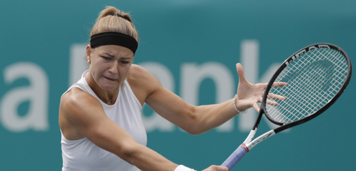 Česká tenistka Karolína Muchová slaví první trofej na okruhu WTA.