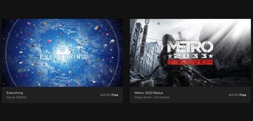 """Obchod Epic Games Store dává zdarma Metro 2033 a """"simulátor všeho"""""""