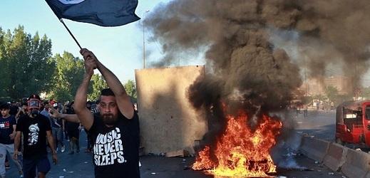Protesty v Iráku.