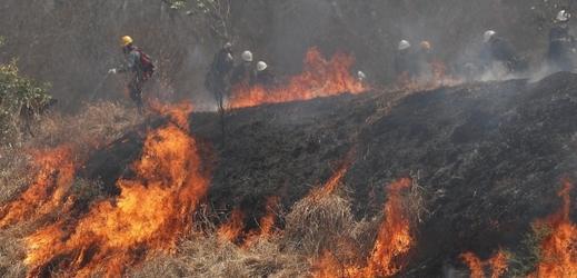 Vydatný déšť pomohl s hašením rozsáhlých lesních požárů.
