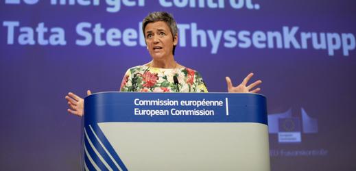 Místopředsedkyni Evropské komise Margrethe Vestagerová.