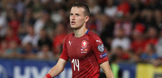 Jakub Jankto při zápase národního týmu.