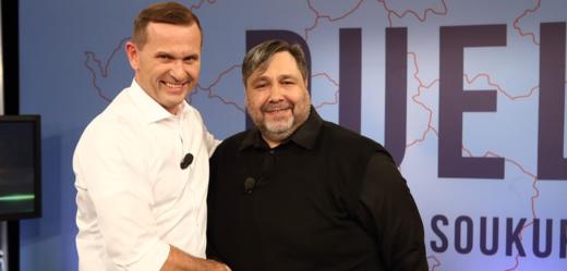 Jaromír Soukup s Lubošem Xaverem Veselým.
