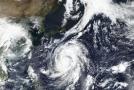 Tajfun Hagibis, snímek ze satelitu.