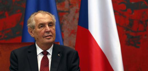 Prezident republiky Miloš Zeman.