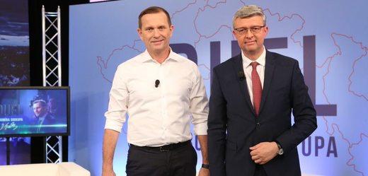 Jaromír Soukup s ministrem Karlem Havlíčkem.