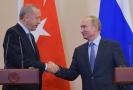 Turecký prezident Erdogan (vlevo) a ruský prezident Vladimir Putin.