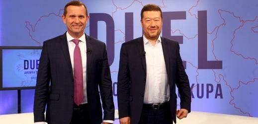 Duel Jaromíra Soukupa s lídrem SPD Tomiem Okamurou.
