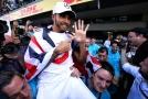 Lewis Hamilton pošesté slaví titul mistra světa.