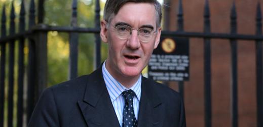 Vysoce postavený politik britské vládní Konzervativní strany Jacob Rees-Mogg.
