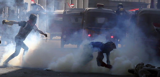 Protesty v Bagdádu.