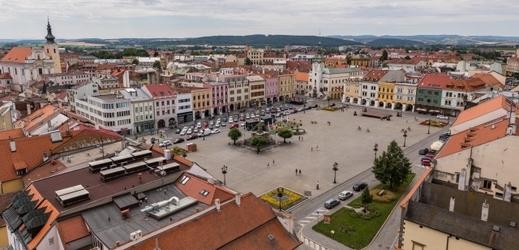 Velké náměstí v Kroměříži.