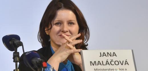 Ministryně práce Jana Maláčová (ČSSD).