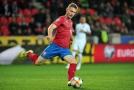 Obránce Jakub Brabec proti Anglii.