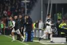Vystřídaný Cristiano Ronaldo proti AC Milán.