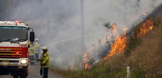 Lesní požáry v Austrálii.