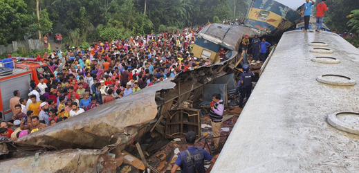Vlaková tragédie v Bangladéši.