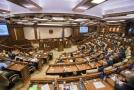 Moldavský parlament.