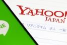 Internetové firmy Line a Yahoo Japan.
